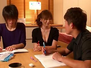 Yuma asami are tempted to h bone up on tutor teacher